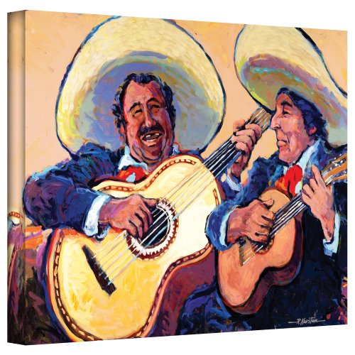 ArtWall Mariachi de Cabo Gallery Wrapped Canvas Art by Rick Kersten, 18 by 24-Inch