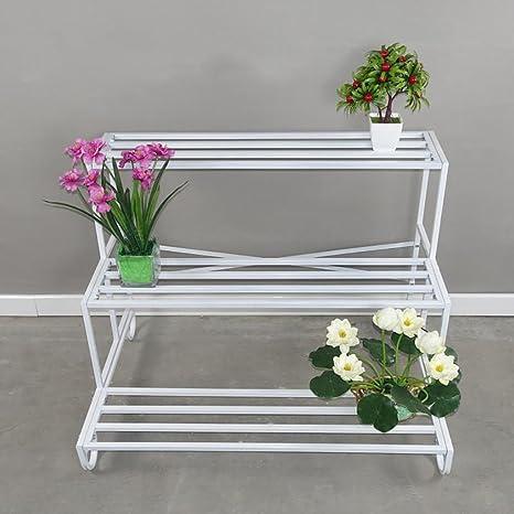 soporte de hierro flor Sujetador de la flor del hierro, estante multi de los potes de ...