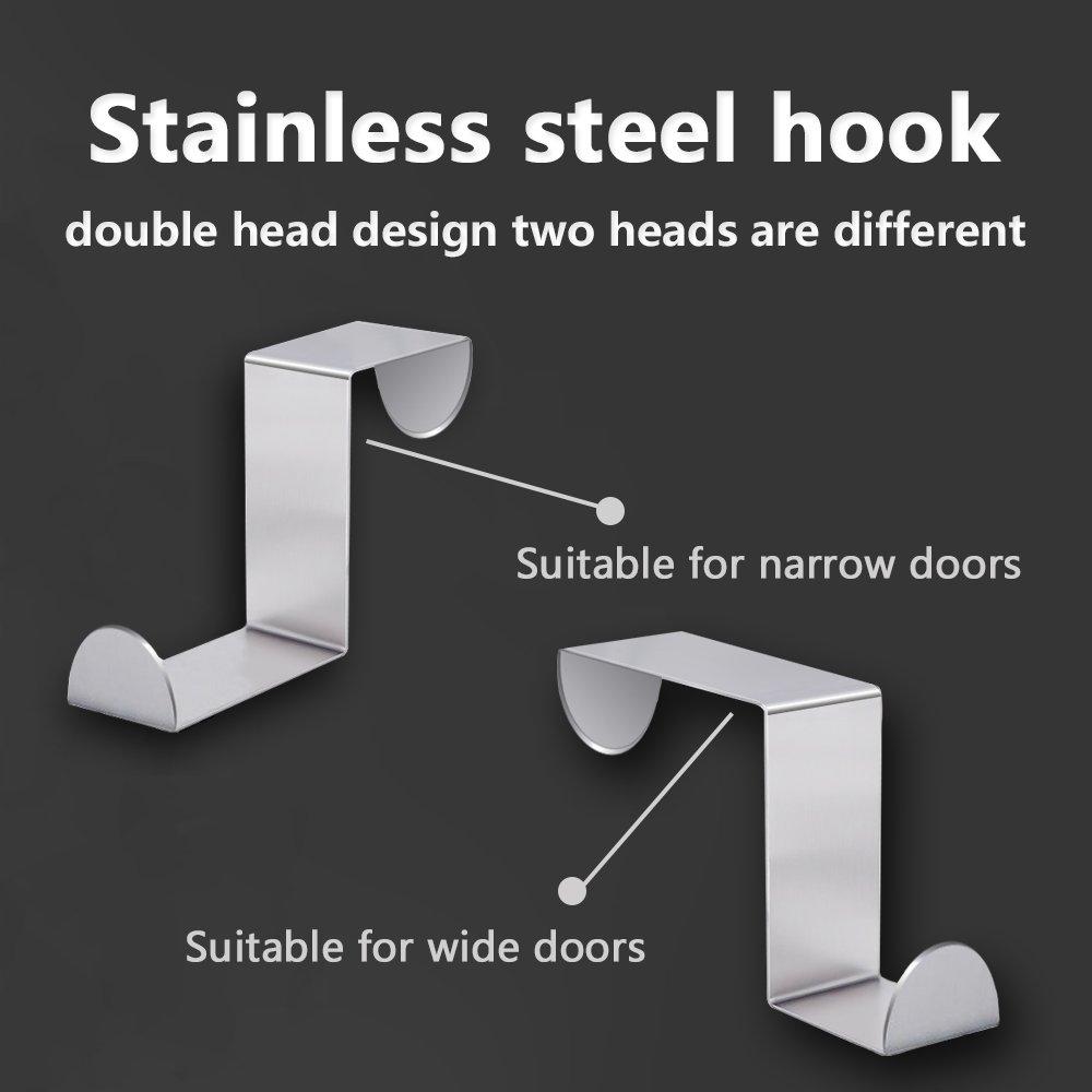 Amazon.com: Perchero de acero inoxidable ajustable para ...
