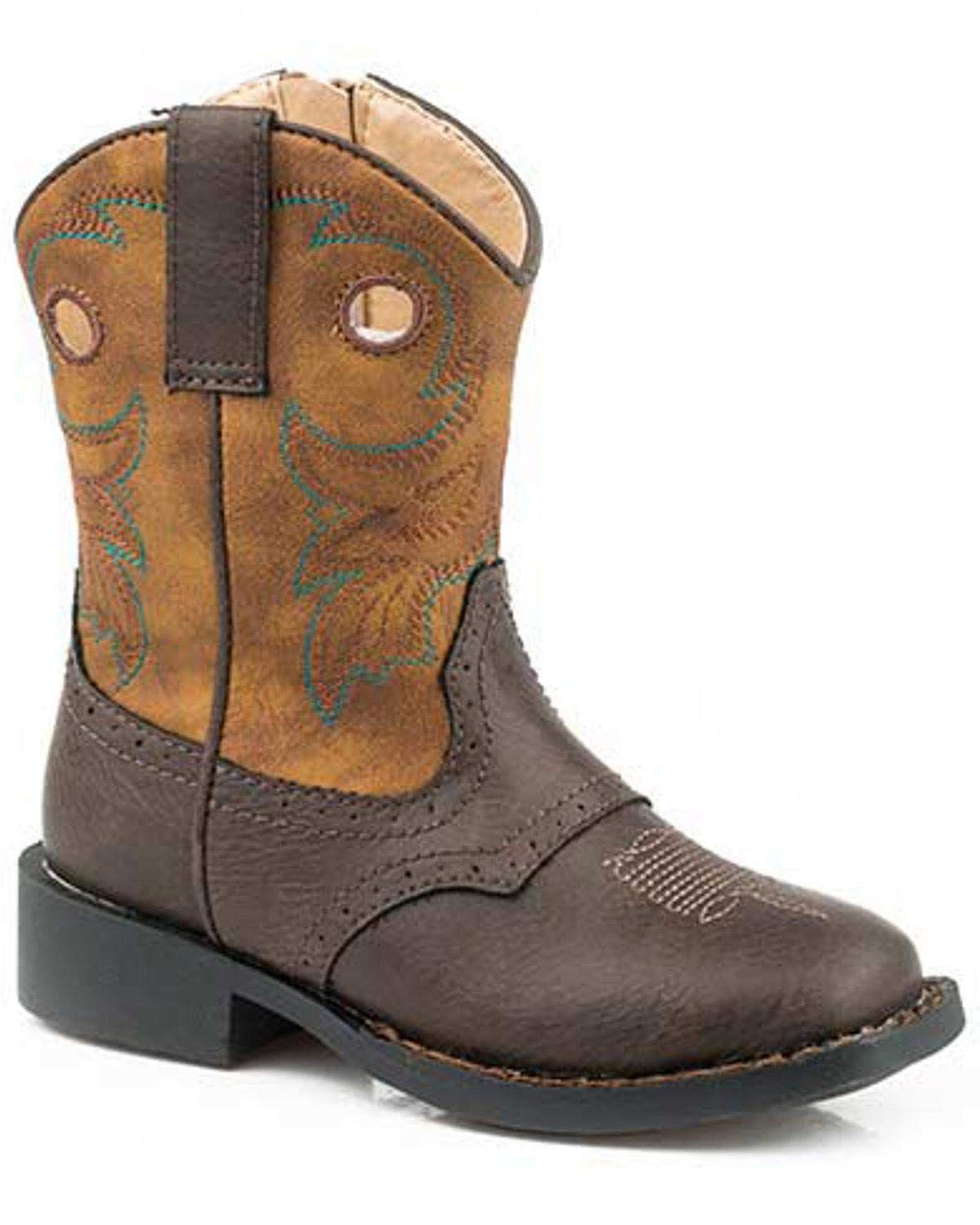 ROPER Boys' Daniel Western Boot Round Toe Brown 8 D