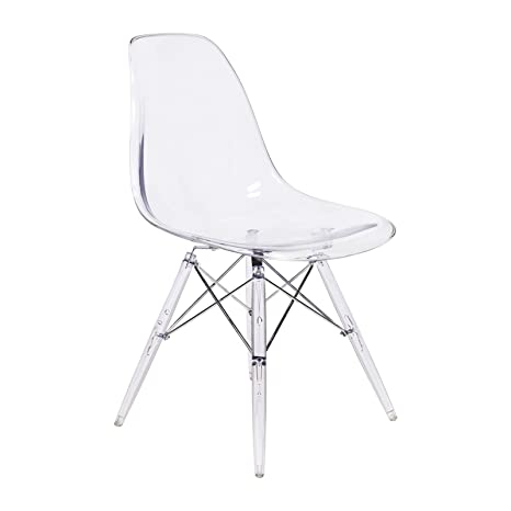Incredible Amazon Com Mid Century Modern Retro Side Chair Clear Ocoug Best Dining Table And Chair Ideas Images Ocougorg