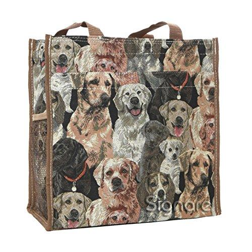 animal Labrador para tapiz de bolso Bolso de Signare Shopper mujer hombro moda Ov4XPBqT