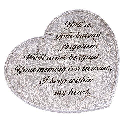 Gone But Not Forgotten Bereavement Heart Shaped 11 in. Garden Stepping Stone