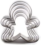 Gingerbread Man Cutters Stainless Steel Cookie Cutter Gingerbread Man Shapes for Kids Set of 5 by KAISHAN