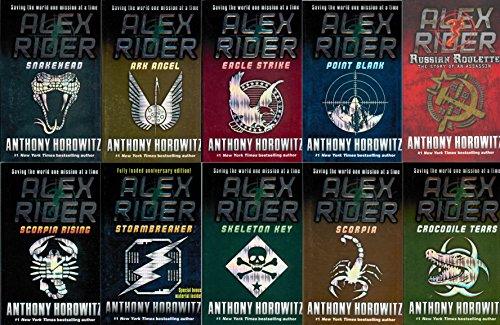 Alex Rider 10 Set : Stormbreaker, Point Blank, Skeleton Key, Eagle Strike, Scorpia, Ark Angel, Snakehead, Crocodile Tears, Scorpia Rising, Russian Roulette