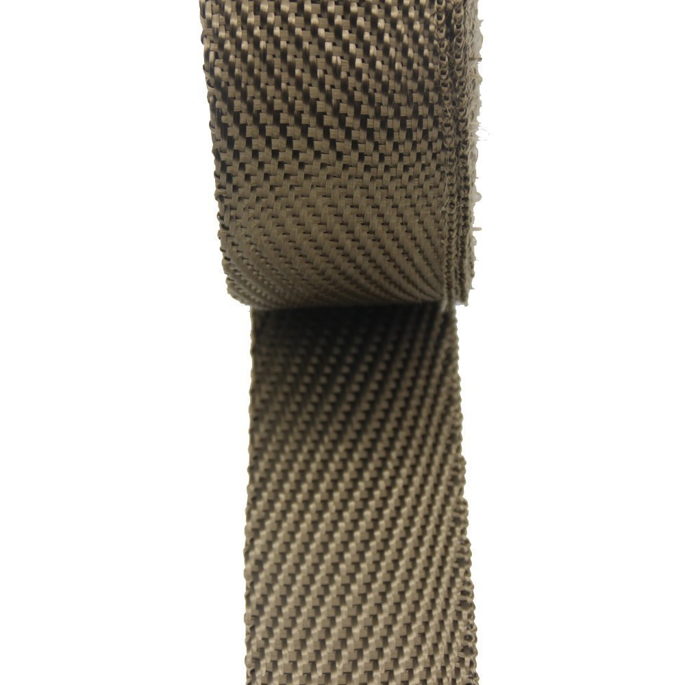 LEDAUT 2'' x 50' Twill Weave Motorcycle ATV Titanium Exhaust Heat Shield Wrap with 11.8'' Locking Ties (Pack of 15) by LEDAUT (Image #5)