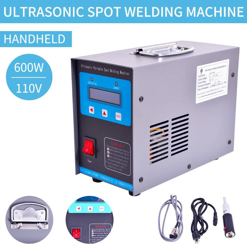 110V 600W 28kHz Portable Ultrasonic Plastic Welder Plastic Spot Welding Machine