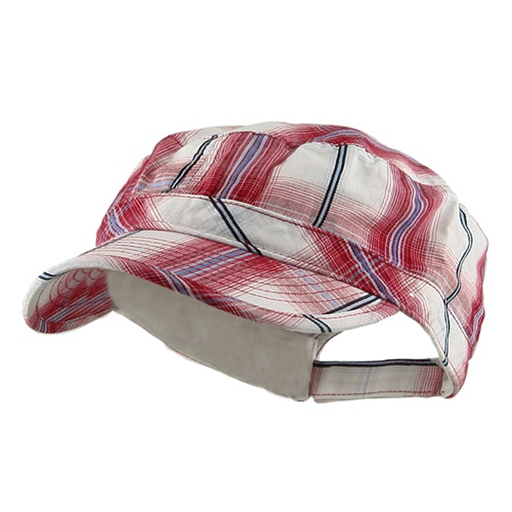 e4Hats.com Twill Fashion Engineer Cap-Red