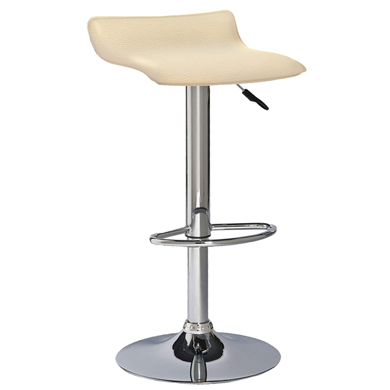 Superb Amazon Com 2 Piece Cream Adjustable Faux Leather Swivel Bar Theyellowbook Wood Chair Design Ideas Theyellowbookinfo