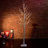 Excelvan 2.1M/7FT 120 LEDs Silver Birch Twig Tree Warm White Light White Branches for Home, Party, Wedding, Christmas, Indoor Outdoor Decoration (HG-C004)