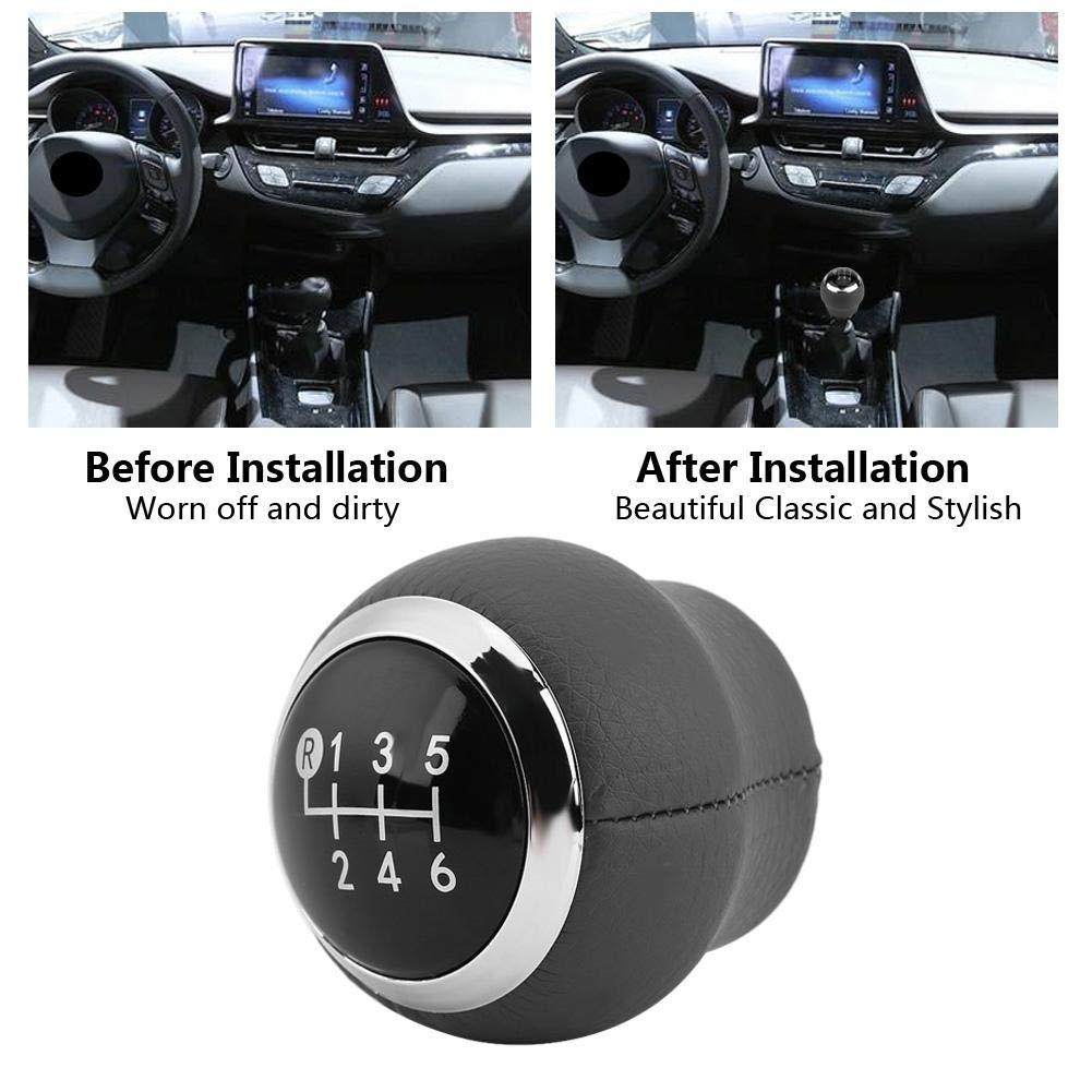 6 Speed Gear Shift Knob Ball Black Manual Gear Stick Shift Level Knob Head Replacement for Toyota Corolla Verso Auris Yaris RAV4 2007-2013