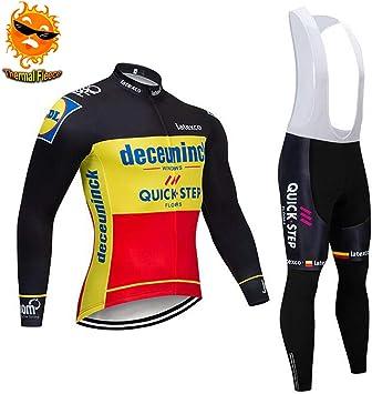 ADKE Hombre Traje de Ciclismo Invierno, Conjunto de Ropa de ...