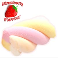 Hoosier Hill Farm Belgian Marshmallow Twists. Pink, Yellow, Cream and White, 2.2 lbs (1kg) Strawberry Flavoured