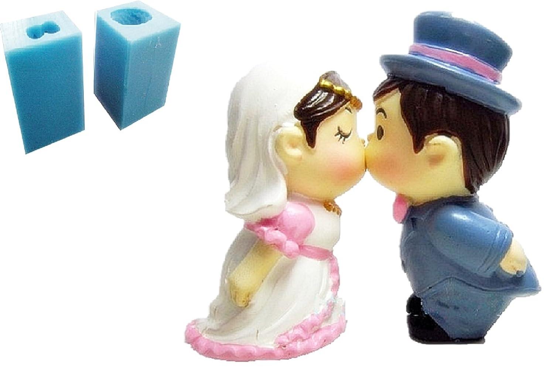 Inception Pro Infinite 2 stampi in silicone per uso artigianale di coppia di sposi che si baciano - adatto anche per candele Exsyn Di Tozzi Stefano