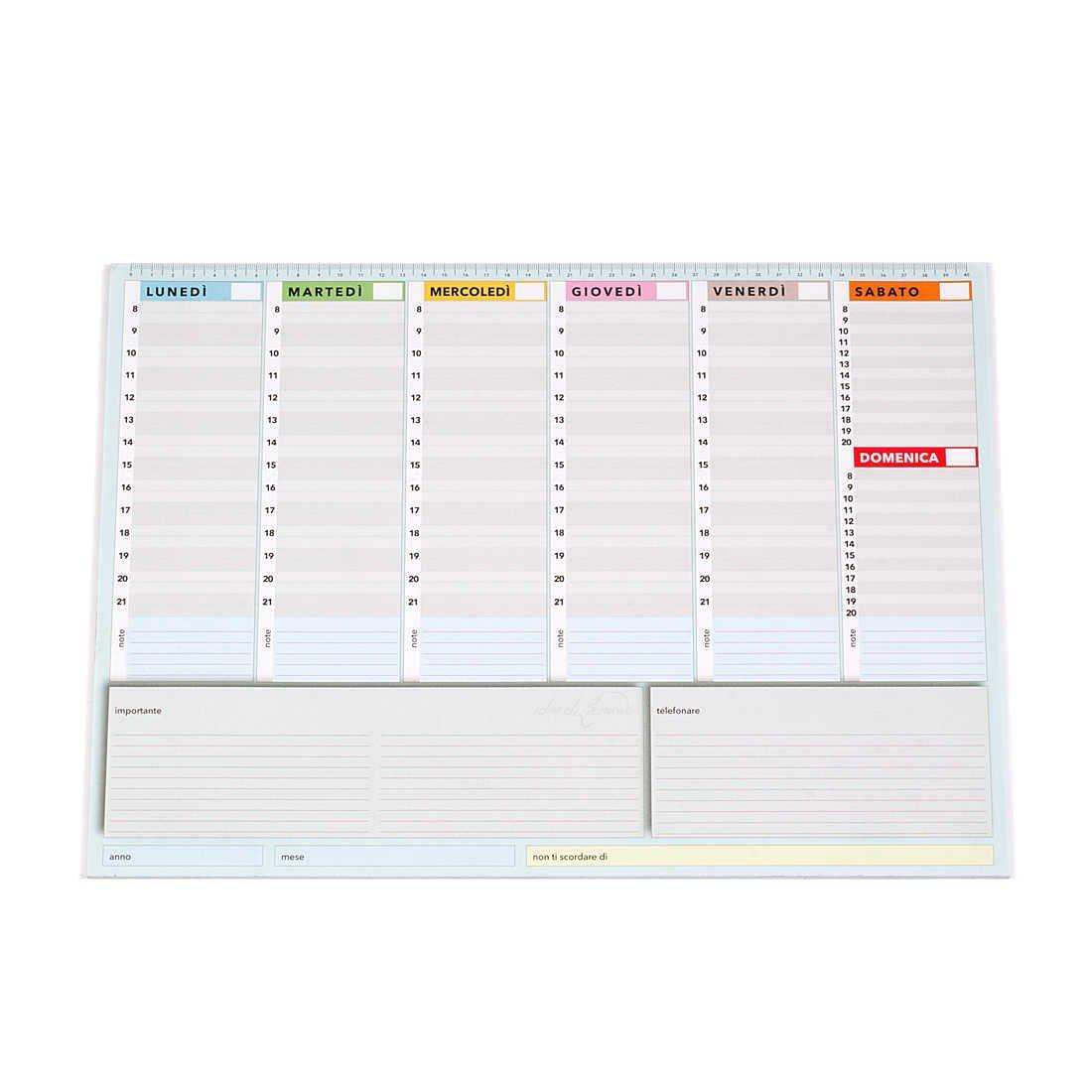 True Colors - Planificador semanal de 42 x 30 cm, agenda con planificador de escritorio permanente (idioma español no garantizado)