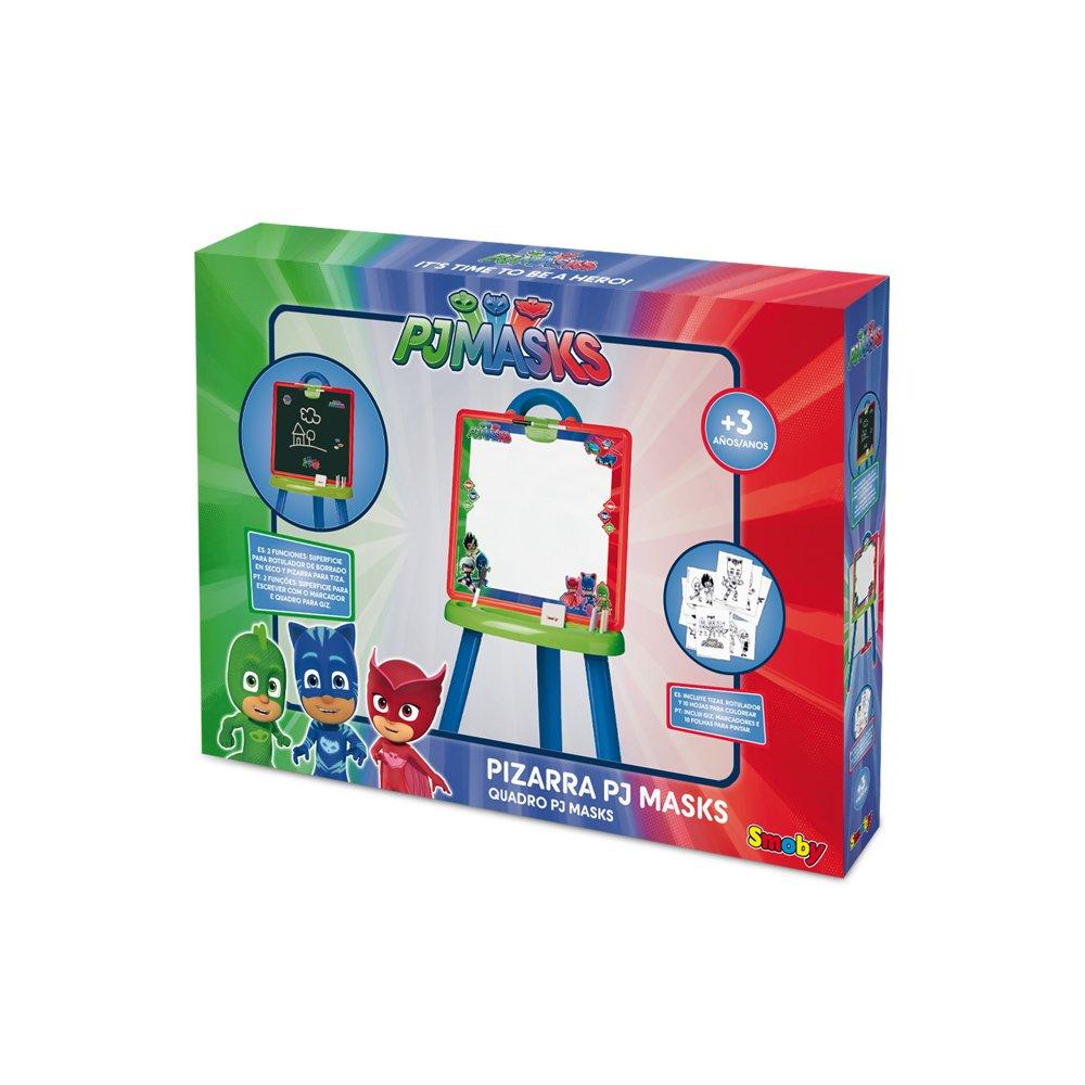 Smoby-3032164106172 PJ Masks Pizarra, Color Azul, Verde ...