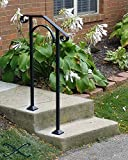 Iron X Handrail Arch #1 Fits 1 or 2 Steps