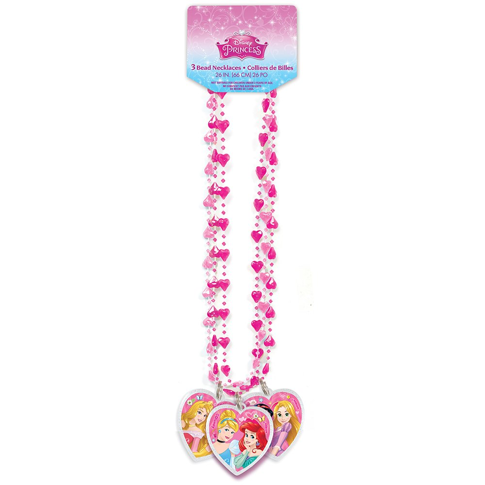 Disney Princess Bead Necklace Party Favors, 3ct by Unique