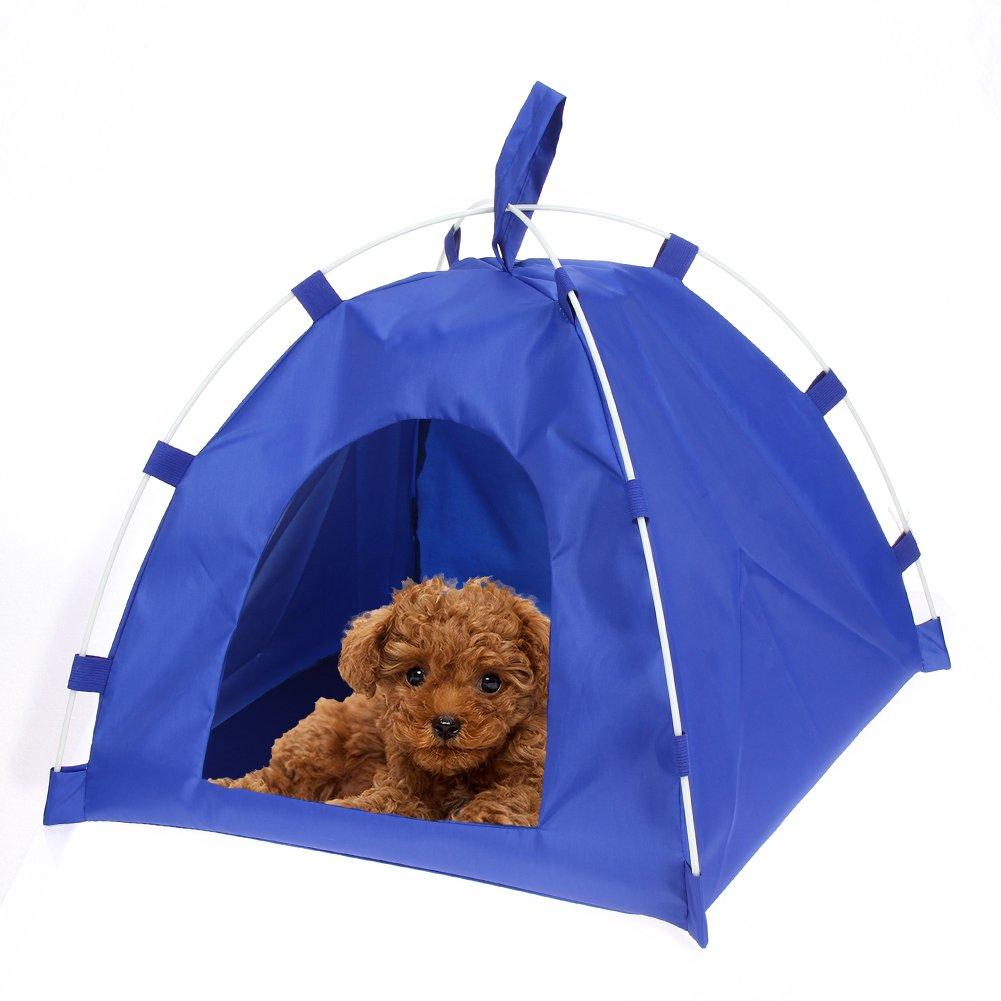 Demiawaking Tenda impermeabile Casa del Cane e Gatto Domestico Canile Cuccia Letto Pieghevole Portatile (Rosa)