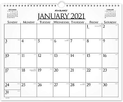 2021 Wall Calendar Amazon.: 2021 Wall Calendar by AT A GLANCE, 15
