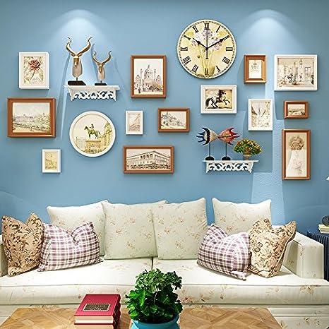Marco de fotos HJKY pared conjunto Continental de las paredes están decoradas con fotografías minimalista y