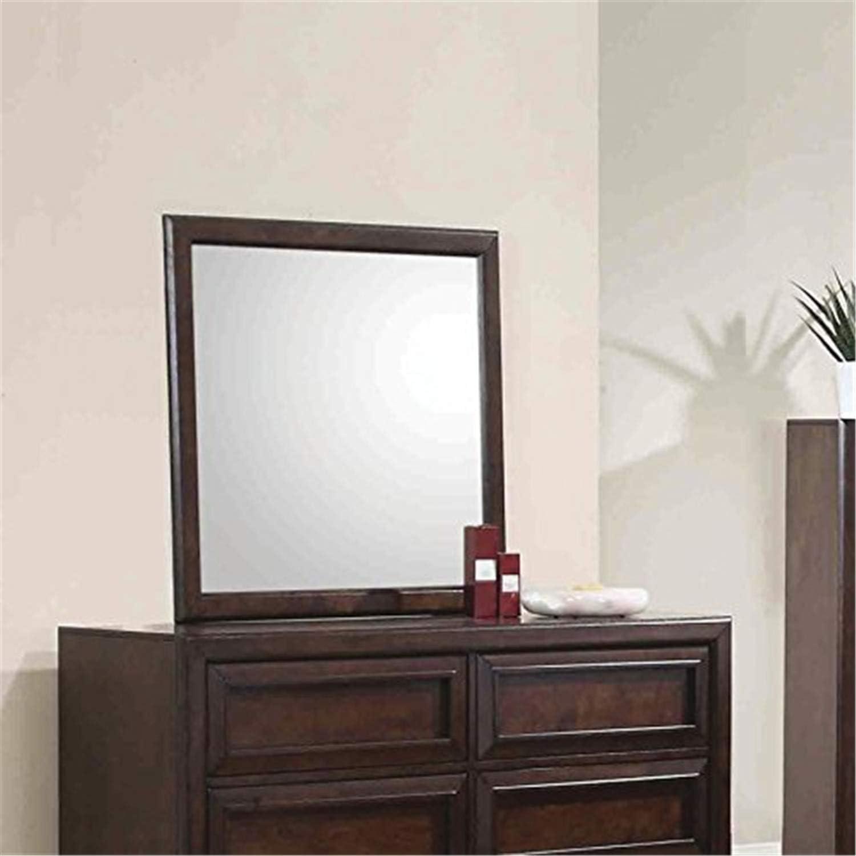 Coaster Home Furnishings Dresser Mirror, Cappuccino