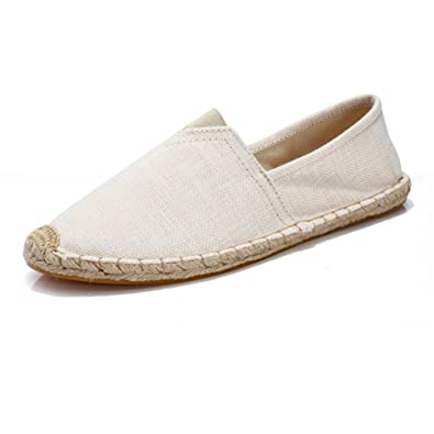 Mens Comfort Canvas Cap Toe Slip-On Platform Flat Espadrilles
