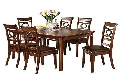 amazon com banks cherry brown dining table with leaf tables rh amazon com Dining Table with Leaves Glass Dining Table with Leaf