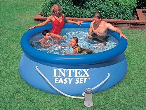 Set 7 in1 Quick Up Piscina Intex 28112 Diámetro 244 x 76 cm: Amazon.es: Jardín
