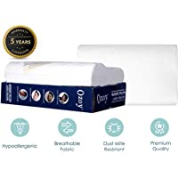 Ozoy Memory Foam Cervical Contour Medical Pillow for Sleeping Orthopedic Pillows for Neck Back Pain (Assorted Cover)