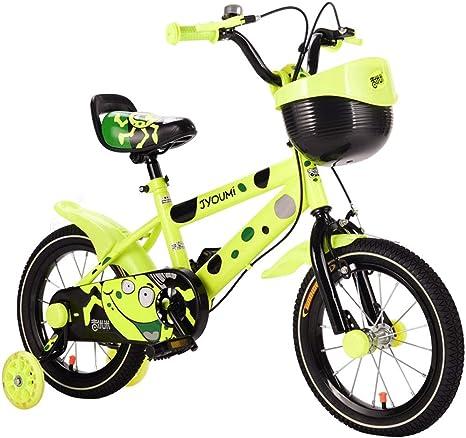 LLF Bicicleta Infantil Marco De Acero Freestyle Niños En Bicicleta For Niños Y Niñas, 12-14-16-18 Pulgadas, Niños Bicicleta con Ruedas Estabilizadores Y Cesta: Amazon.es: Deportes y aire libre