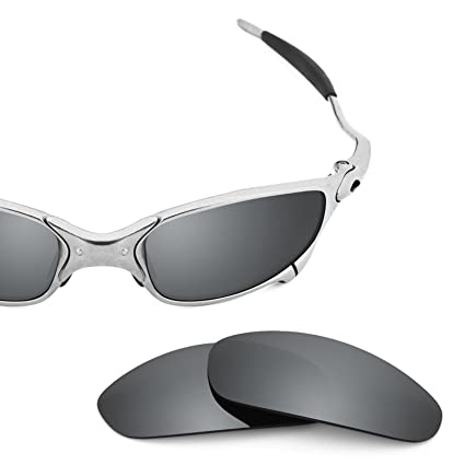 4d391c555e Image Unavailable. Image not available for. Color  Revant Polarized  Replacement Lenses for Oakley Juliet Elite Black Chrome MirrorShield