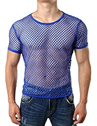 Men's Mesh Fishnet Fitted Muscle Top