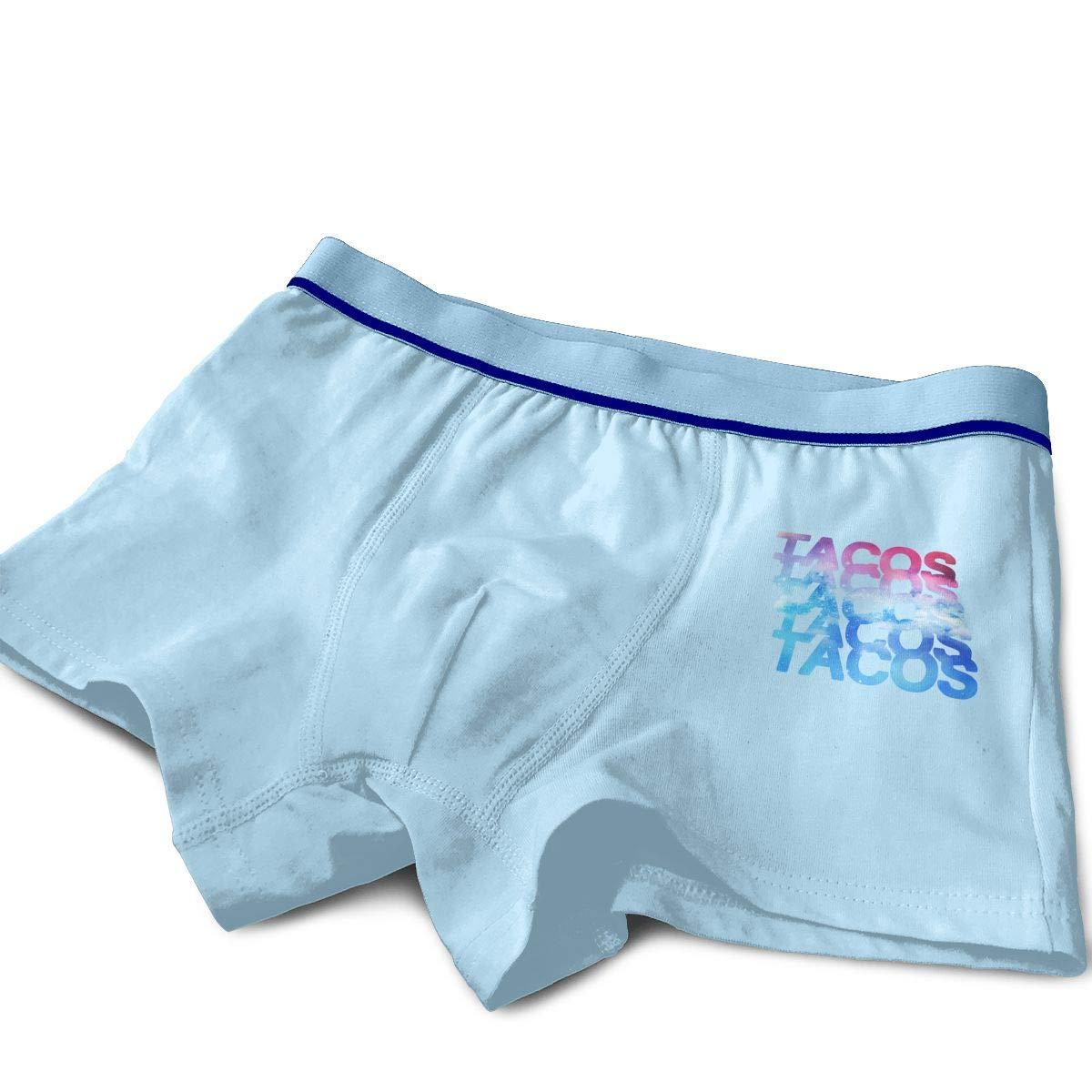 Raingningsning Tacos Tacos Tacos Tacos Tacos Boys Cotton Boxer Briefs Underwear