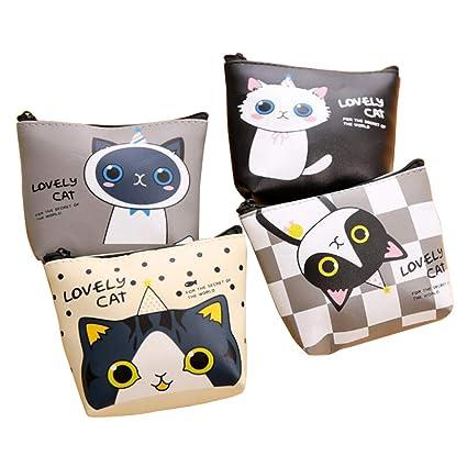 Cartera monedero para gatos o gatos, tamaño pequeño, bonita bolsa de dinero, tamaño