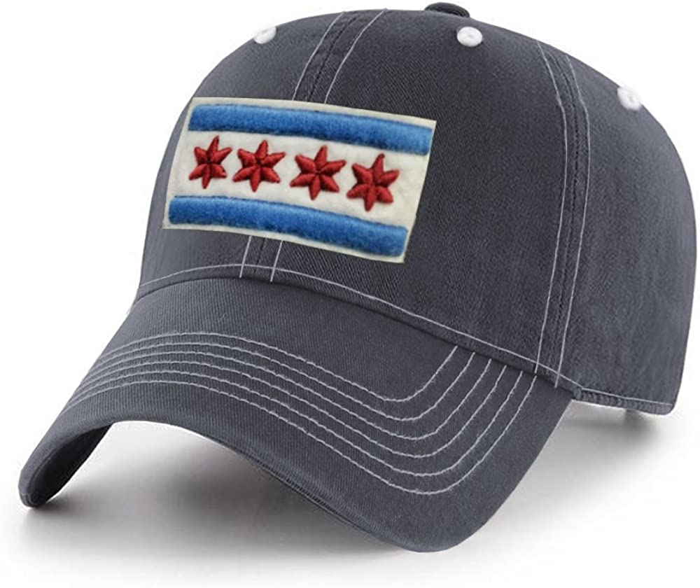 ThirtyFive55 City of Chicago Adjustable Relaxed Cap Navy