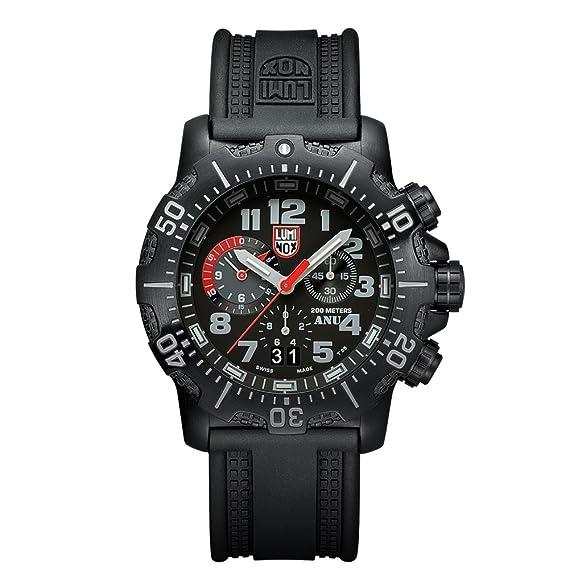 NV Reloj de Plásticolsera Cuarzo Hombre correa de Plástico Negro: Amazon.es: Relojes