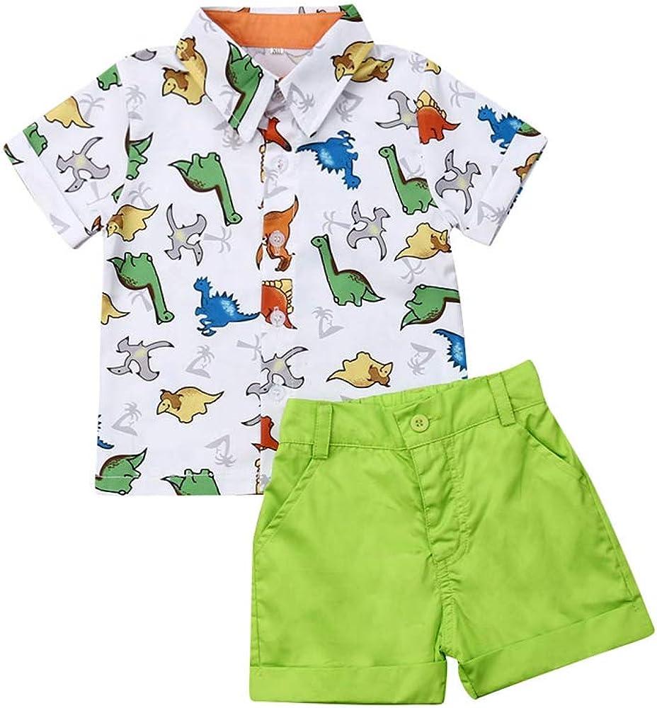 Conjunto de Camisa y Pantalones Cortos de Manga Corta para bebé y niño, para Bautizo, Fiestas, Bodas o para niños de 1 a 6 años