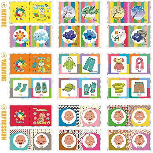 My First Soft Book,TEYTOY 6 PCS Nontoxic Fabric Baby Cloth Books Early Education Toys Activity Crinkle Cloth Book for Toddler, Infants and Kids Perfect for Baby Shower (New Version) by TEYTOY (Image #5)