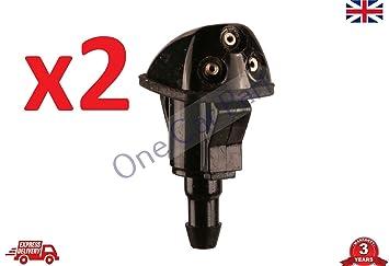 2 boquillas de limpiaparabrisas delanteras JET SPRAY i10 2007 - 2008 - 2009 - 2010 - 2013: Amazon.es: Coche y moto