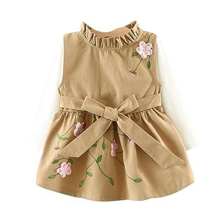 Vovotrade 2pcs infantil bebé niñas diseño de flores sin mangas ...