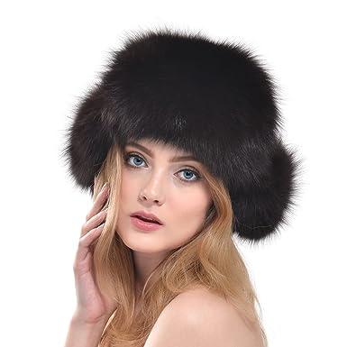 autorizzazione prezzo moderato stile alla moda VEMOLLA Cappello di Vera Pelliccia di Volpe per Donna Stile ...