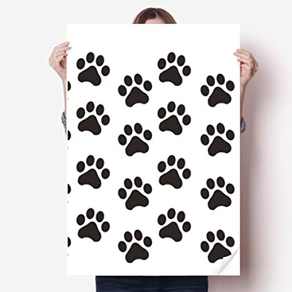 DIYthinker Cat Animal Cute Paw Print Silhouette Footprint Vinyl Wall Sticker Poster Mural Wallpaper Room Decal