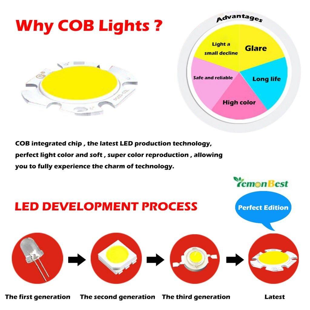 Lemonbest Energy Saving Dimmable 7w Recessed Ceiling Led Bulb Spot Spotlight Wiring Diagram Uk Light Fixture 7 Watts Cob Downlight Flood Lighting Lamp Warm White