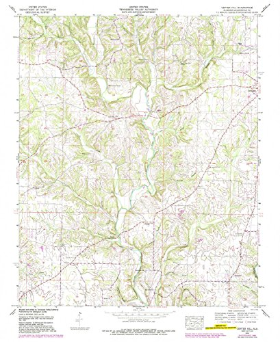 YellowMaps Center Hill AL topo map, 1:24000 Scale, 7.5 X 7.5 Minute, Historical, 1952, Updated 1989, 26.9 x 22 in - ()