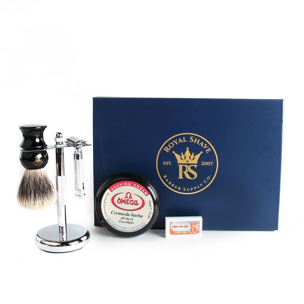 Merkur 34C Double Edge Safety Razor Wet Shave Gift Set RoyalShave