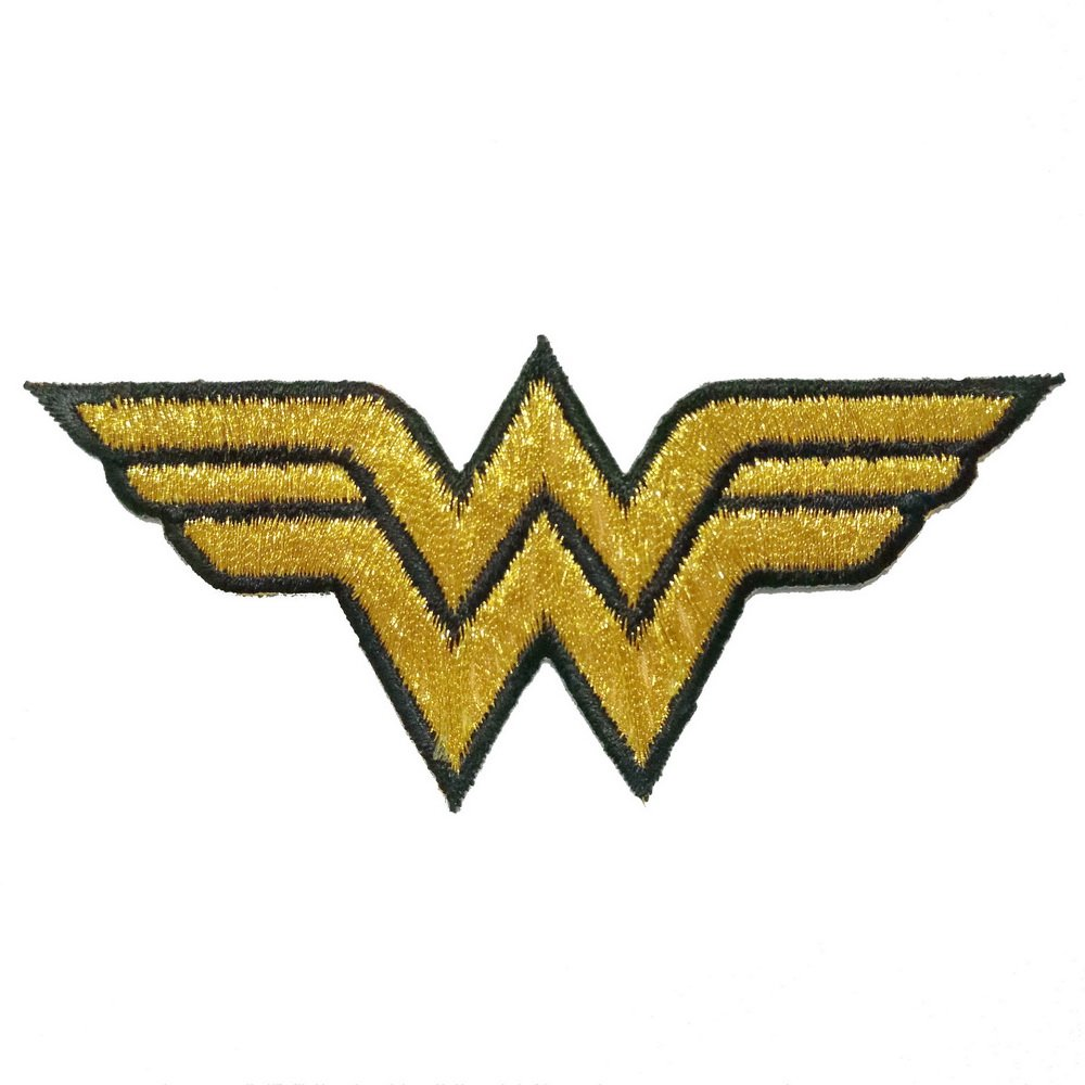 Amazon wonder woman iron on patch ww yellow letter name gold color wonder woman embroidered iron on patch logo biocorpaavc Images