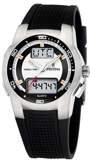Festina Sport World Time F6738/A - Reloj analógico - Digital de Cuarzo para Hombre