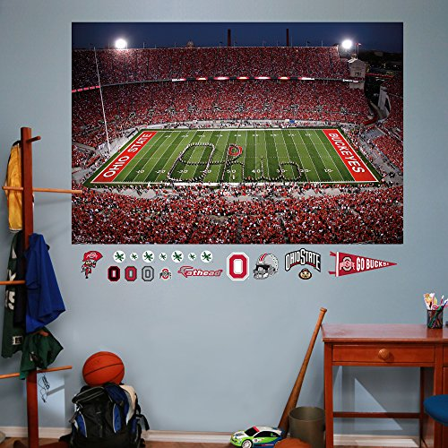 NCAA Ohio State Buckeyes Marching Band Script Ohio Mural Fathead Wall Decal, Real Big