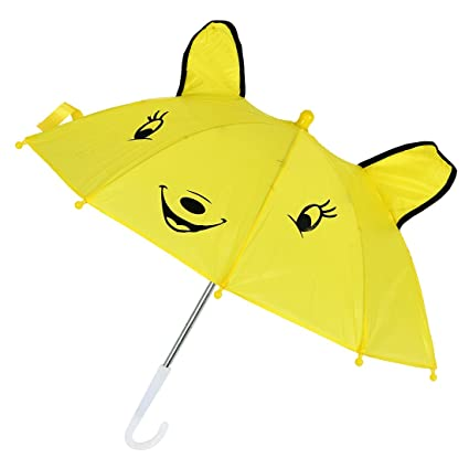 SODIAL(R) Mini Paraguas Diseno de Panda para Ninos - Amarillo